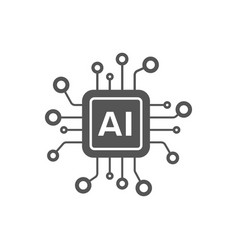 ai processor icon for websites and mobile vector image