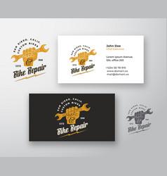 bike repair abstract modern logo and vector image