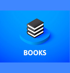books isometric icon isolated on color background vector image