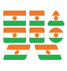 Buttons with flag of Niger vector