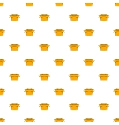 Carton box pattern cartoon style vector