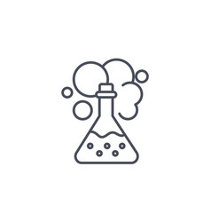 chemistry icon showing a chemical reaction vector image