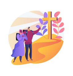 christian pilgrimages abstract concept vector image