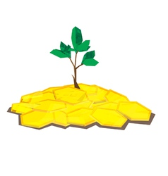 coin tree polygon vector image