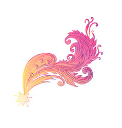 decorative ornate comet or vector image
