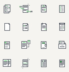 Document line icons vector image