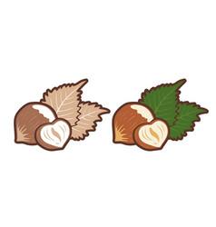 emblems hazelnuts vector image