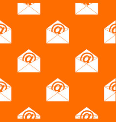 Envelope with email sign pattern seamless vector