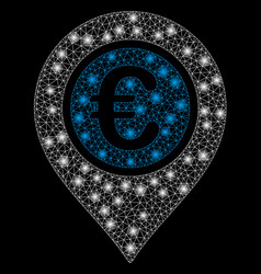 Flare mesh 2d euro pointer with flash spots vector