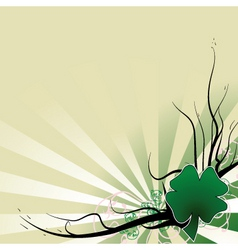 four leaf clover template vector image