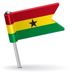 Ghana pin icon flag vector