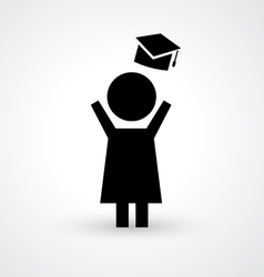 Graduation icon vector
