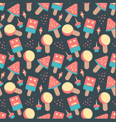 hand drawn doodle colorful candy sweets ice cream vector image