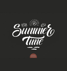 hand drawn lettering - summertime elegant modern vector image