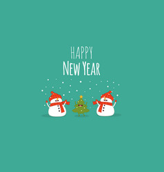 happy new year card santa s greetings vector image