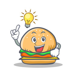 Have an idea burger character fast food vector