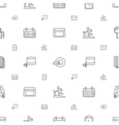 healthcare icons pattern seamless white background vector image