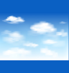in the clear sky high floating clouds vector image