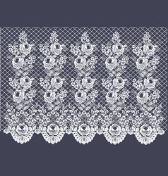 Lace curtains decorative border vector