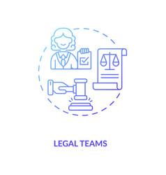 Legal teams concept icon vector