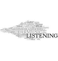 Listening word cloud concept vector