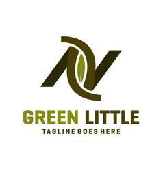 Logo design letter av vector