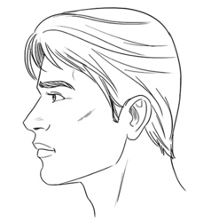 Male head vector image