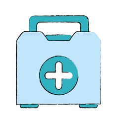 medical briefcase vector image