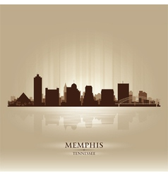 Memphis Tennessee skyline city silhouette vector