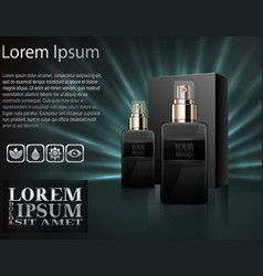 Mens perfume with package box vector