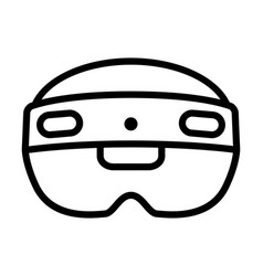 mixed reality hololens 2 headset line icon vector image
