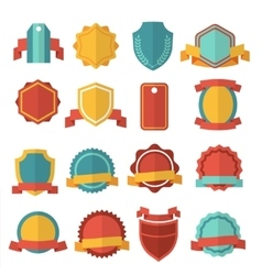 Modern flat badges set vector image