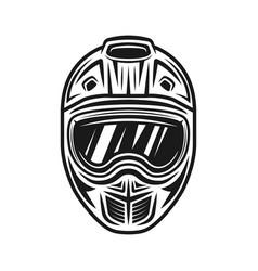 Motocross helmet object or design element vector