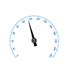 needle speedometer with blue numbers vector image