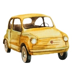 Nice watercolor retro car vector image