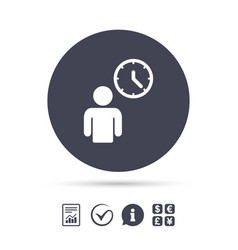 person waiting sign icon time symbol vector image