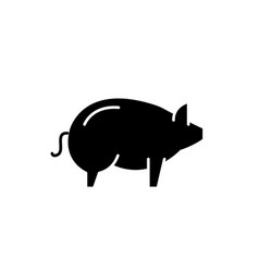 pig black icon sign on isolated background vector image