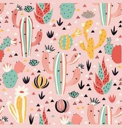Pink desert pattern vector
