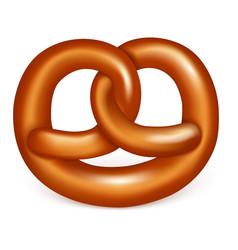 pretzel icon realistic style vector image