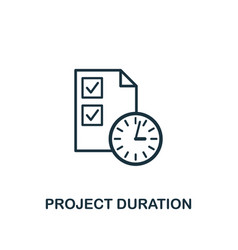 project duration icon creative element design vector image