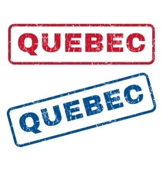 Quebec Rubber Stamps vector