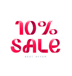 sale 10 percent off vector image