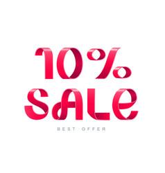 sale 10 percent off vector image