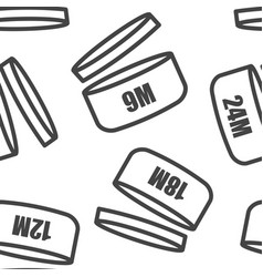 set icons indicating period product vector image