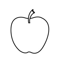 Silhouette of apple fruit food icon vector