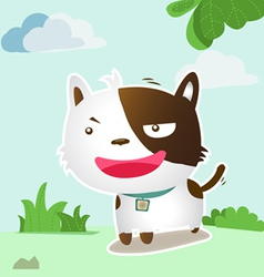 smile dog lovely vector image