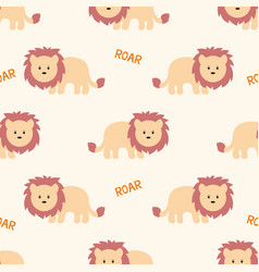 stylized lion cartoon style background vector image
