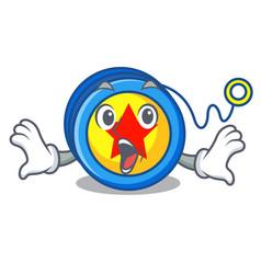 Surprised yoyo mascot cartoon style vector