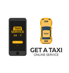 Taxi service mobile app for booking service taxi vector