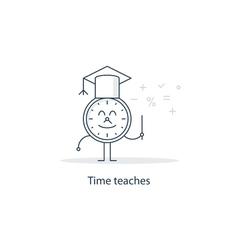 Teacher cartoon character education concept vector